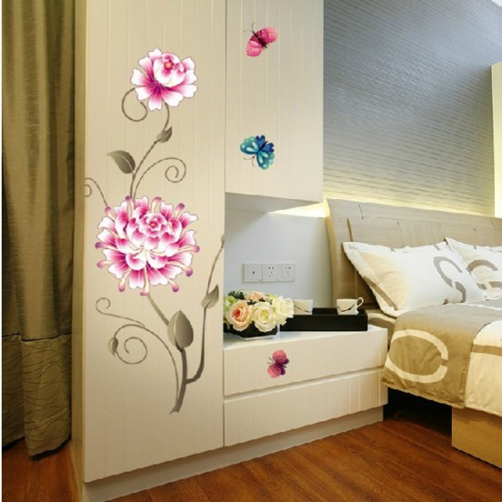 Large Pink Flower Wall Decor
